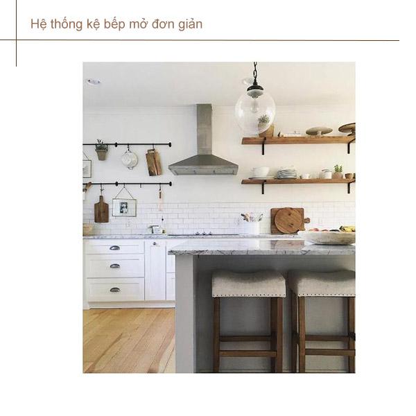 kệ mở tủ bếp